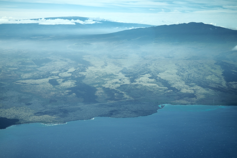 Aerial Shot With Hualalai In The Foreground; Mauna Loa in the background