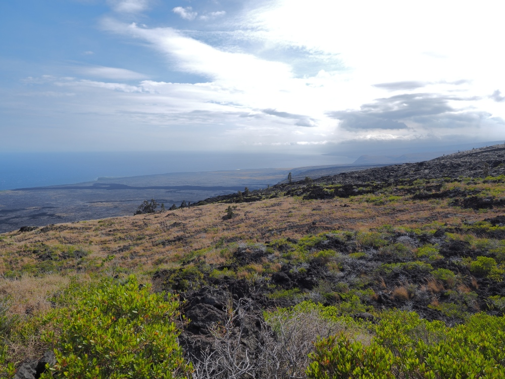 Kilauea at Volcanos National Park Looking South