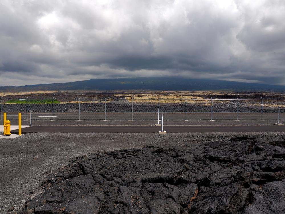 Hualalai from Kona International Airport