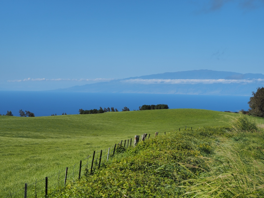 Maui Visible Across The Water from Kohala District
