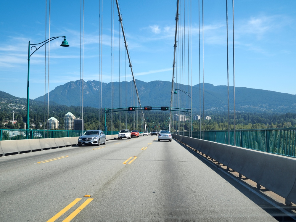 Crossing The Lions Gate Bridge