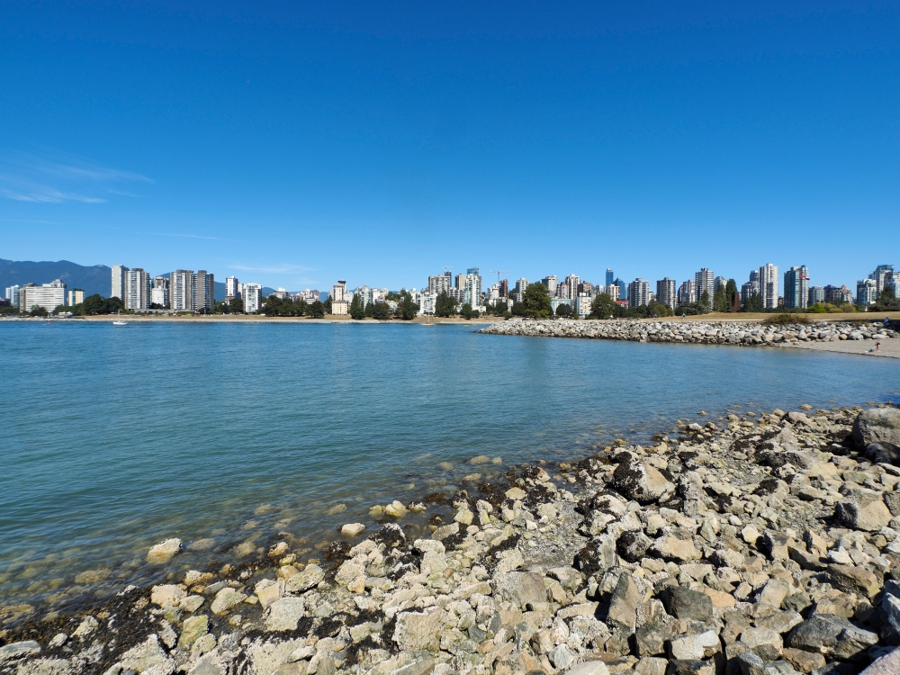 Panorama of Vancouver Using An Extreme Wide Angle Lens