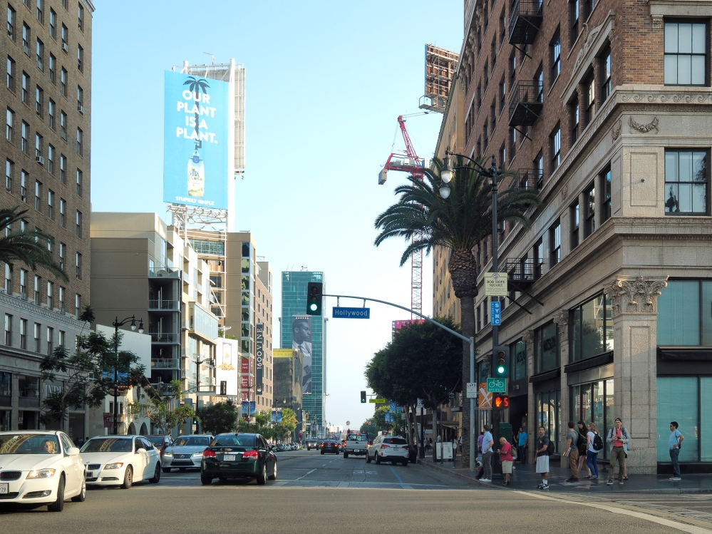 Hollywood and Vine Intersection