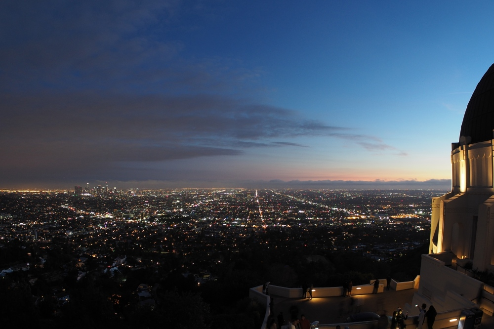 Griffith Observatory with a Fish Eye Lens