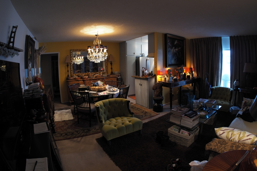 Rick's Apartment Through a Fish Eye Lens